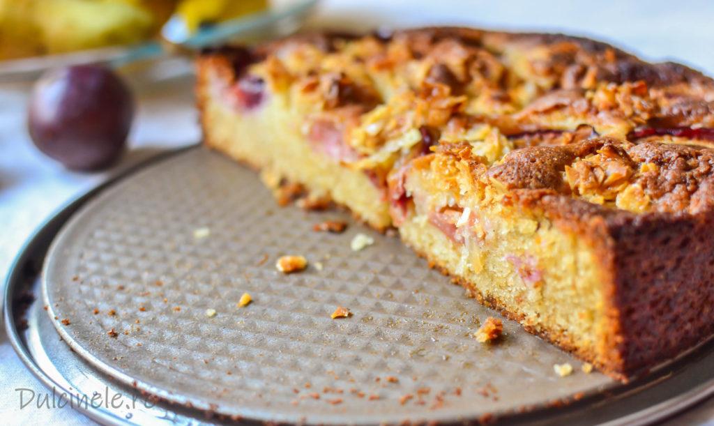 Prăjitură cu prune și migdale