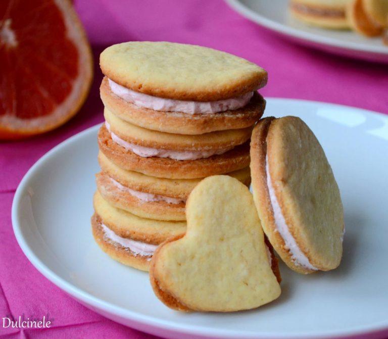Biscuiti cu crema de grapefruit