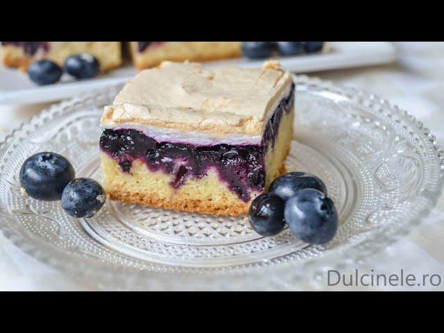 Prăjitură cu afine și bezea (Torta Slava) – rețetă VIDEO