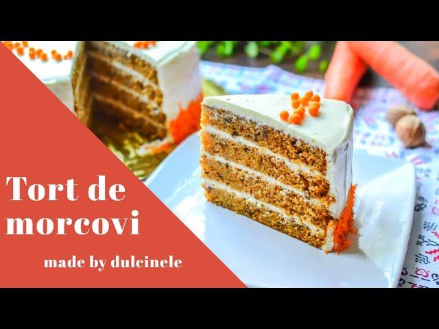 Tort de morcovi (rețetă simplă și rapidă) – rețetă VIDEO