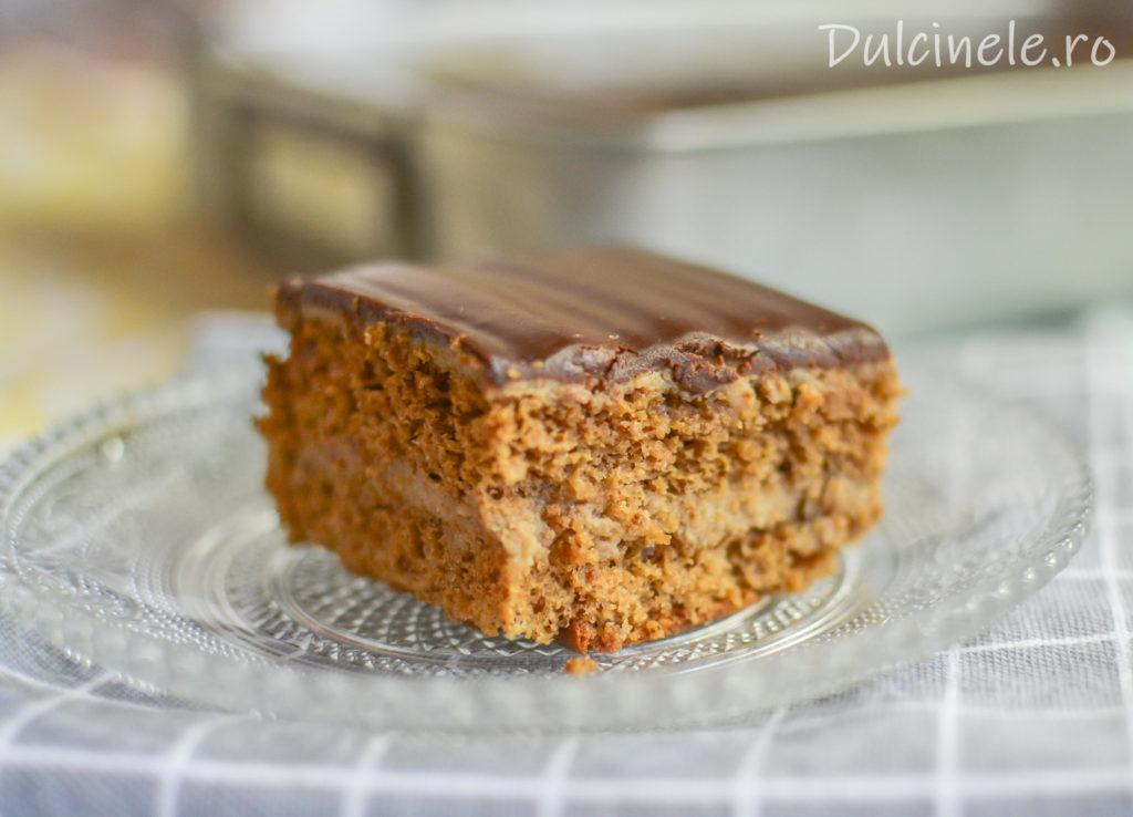 Prăjitură cu nucă și cremă de ness || Dulcinele.ro