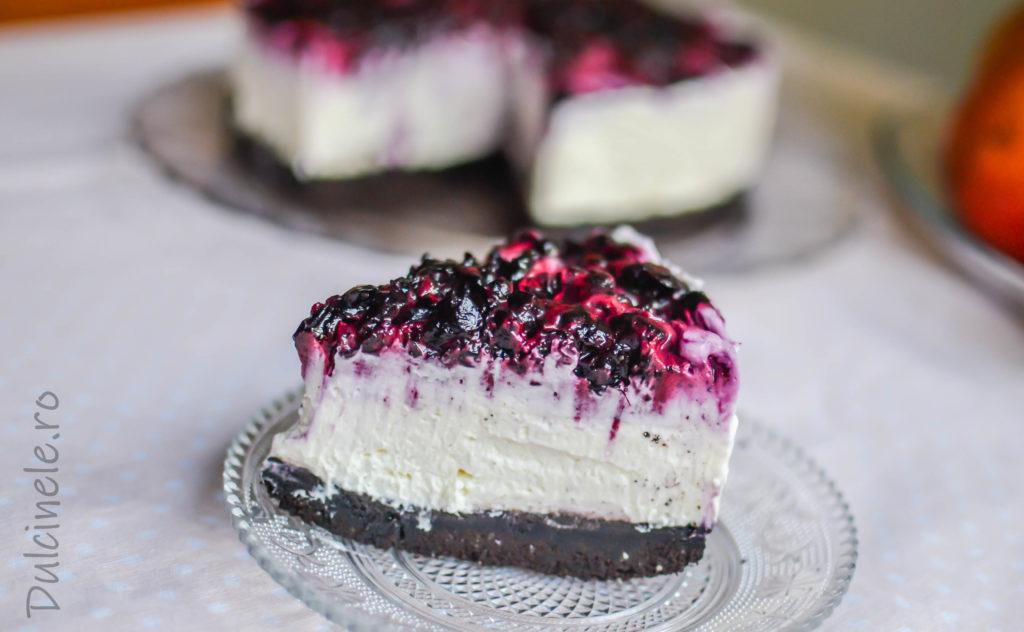 Cheesecake cu biscuiți Oreo și afine || Dulcinele.ro